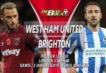 Prediksi Bola West Ham vs Brighton 3 Januari 2019
