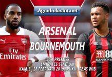 Prediksi Arsenal vs Bournemouth 28 Februari 2019