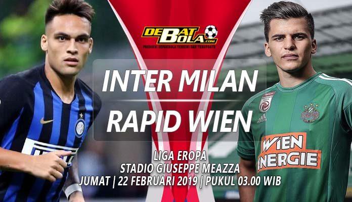 Prediksi Inter Milan vs Rapid Wien 22 Februari 2019