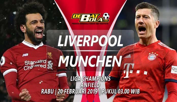 Prediksi Liga Champions Liverpool vs Bayern Munchen 20 Februari 2019
