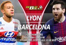 Prediksi Lyon vs Barcelona 20 Februari 2019