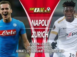 Prediksi Napoli vs Zurich 22 Februari 2019