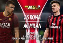 Prediksi Roma vs Milan 4 Februari 2019