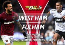 Prediksi West Ham vs Fulham 23 Februari 2019