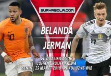 Prediksi Belanda vs Jerman 25 Maret 2019