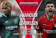 Prediksi Hannover vs Leverkusen 11 Maret 2019