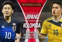 Prediksi Jepang vs Kolombia 22 Maret 2019