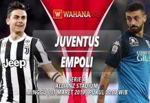 Prediksi Juventus vs Empoli 31 Maret 2019