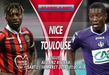 Prediksi Nice vs Toulouse 16 Maret 2019