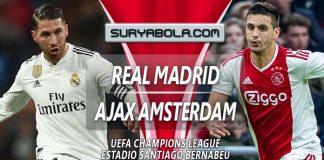 Prediksi Real Madrid vs Ajax Amsterdam 6 Maret 2019