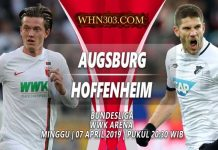 Prediksi Augsburg vs Hoffenheim 07 April 2019