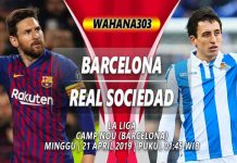 Prediksi Barcelona vs Real Sociedad 21 April 2019