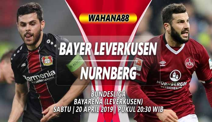 Prediksi Bayer Leverkusen vs Nurnberg 20 April 2019