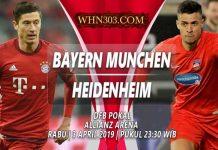 Prediksi Bayern Munchen vs Heidenheim 3 April 2019