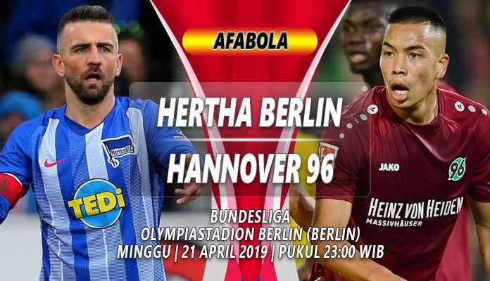 Prediksi Hertha Berlin vs Hannover 21 April 2019