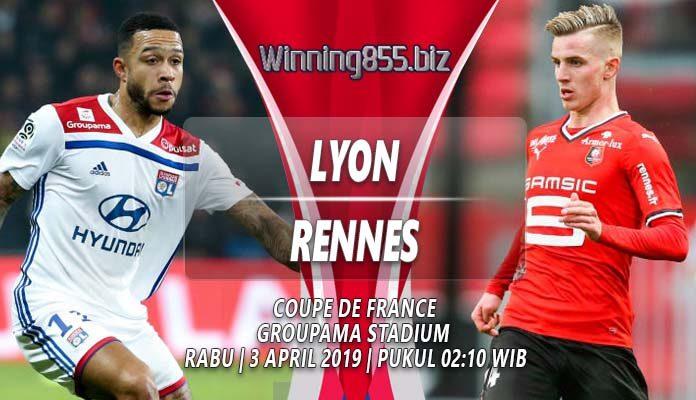 Prediksi Lyon vs Rennes 03 April 2019