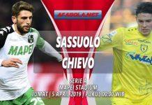 Prediksi Sassuolo vs Chievo 05 April 2019