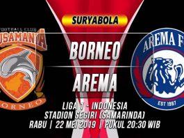 Borneo vs Arema