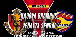 Prediksi Nagoya Grampus vs Vegalta Sendai