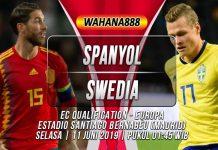 Prediksi Spanyol vs Swedia