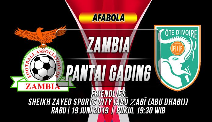Prediksi Zambia vs Pantai Gading 19 Juni 2019