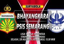 Prediksi Bhayangkara vs PSIS Semarang