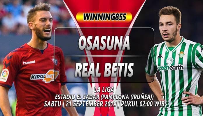 Prediksi Osasuna va Real Betis