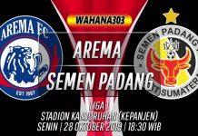 Prediksi Arema vs Semen Padang 28 Oktober 2019