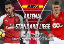 Prediksi Arsenal vs Standard Liege 04 Oktober 2019