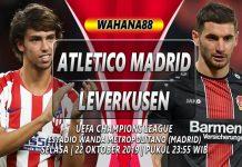 Prediksi Atletico Madrid vs Leverkusen 22 Oktober 2019