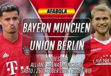 Prediksi Bayern Munchen vs Union Berlin 26 Oktober 2019