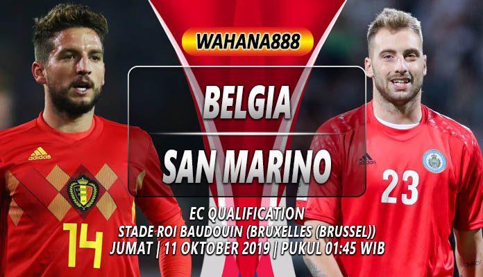 Prediksi Belgia vs San Marino 11 Oktober 2019
