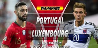 Prediksi Portugal vs Luxembourg 12 Oktober 2019