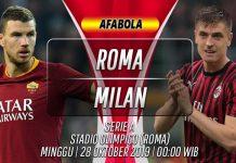 Prediksi Roma vs AC Milan 28 Oktober 2019