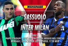 Prediksi Sassuolo vs Inter 20 Oktober 2019