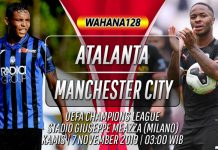 Prediksi Atalanta vs Manchester City 7 November 2019