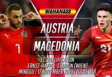 Prediksi Austria vs Macedonia 17 November 2019