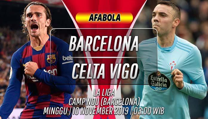 Prediksi Barcelona vs Celta Vigo 10 November 2019