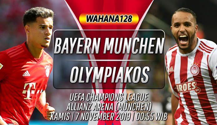 Prediksi Bayern Munchen vs Olympiakos Piraeus 7 November 2019