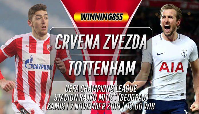 Prediksi Crvena Zvezda vs Tottenham Hotspur 7 November 2019