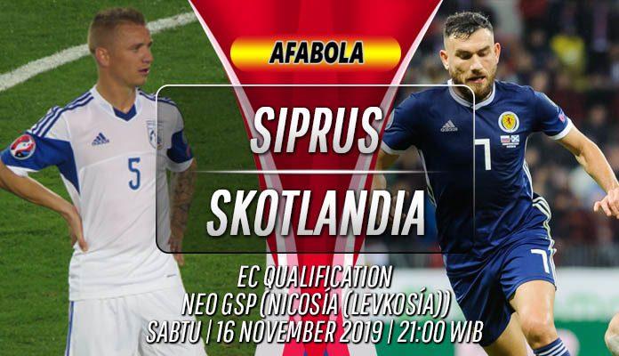 Prediksi Cyprus vs Skotlandia 16 November 2019