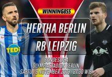 Prediksi Hertha Berlin vs RB Leipzig 9 November 2019