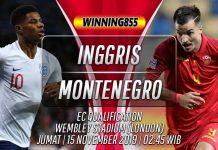 Prediksi Inggris vs Montenegro 15 November 2019