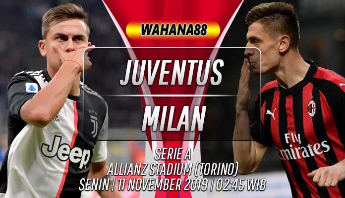 Prediksi Juventus vs Milan 11 November 2019
