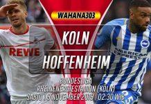 Prediksi Koln vs Hoffenheim 9 November 2019
