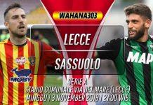 Prediksi Lecce vs Sassuolo 3 November 2019