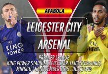 Prediksi Leicester vs Arsenal 10 November 2019