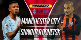 Prediksi Manchester City vs Shakhtar Donetsk 27 November 2019