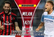 Prediksi Milan vs Lazio 4 November 2019
