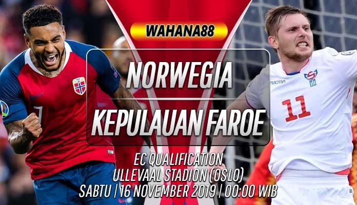 Prediksi Norwegia vs Kepulauan Faroe 16 November 2019